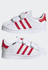 adidas Originals - SUPERSTAR SHOES - Sneakers laag - ftwr white/vivid red - 5