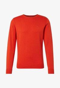 orange red melange