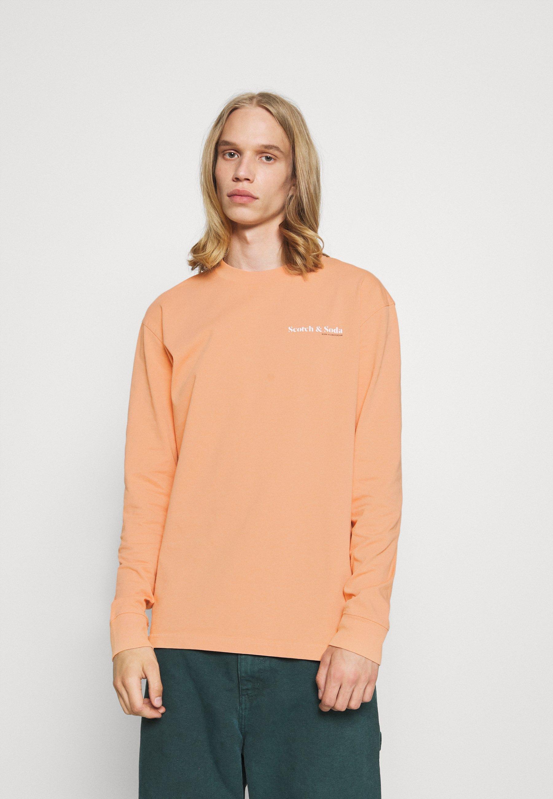 Men LONGSLEEVE TEE WITH CHEST PRINT - Long sleeved top