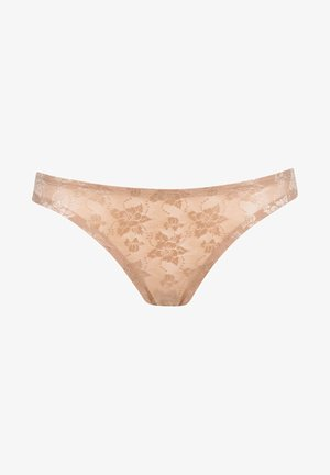 CHARMING LACE THONG - Thong - beige
