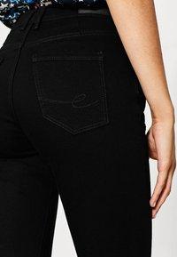 edc by Esprit - HIGH SKIN PANTS DENIM - Slim fit jeans - black denim - 3
