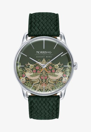 UHR MORRIS & CO SILVER GREEN PERLON 38MM - Watch - fennel