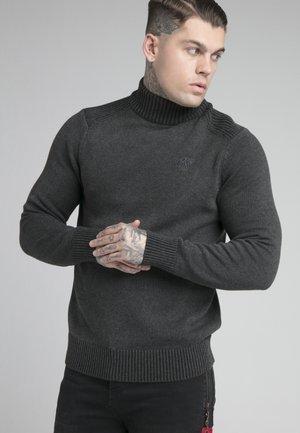TURTLE NECK JUMPER - Stickad tröja - charcoal