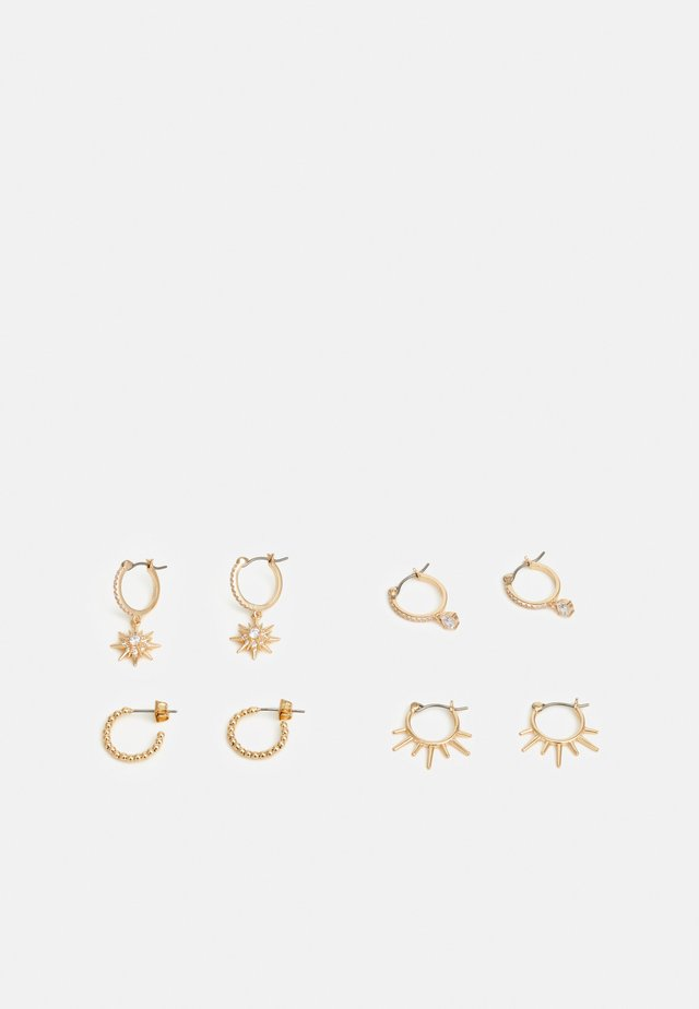PCLAYLA EARRINGS 4 PACK - Boucles d'oreilles - gold-coloured