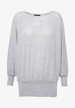 DEEP HEM BATWING - Jersey de punto - light grey