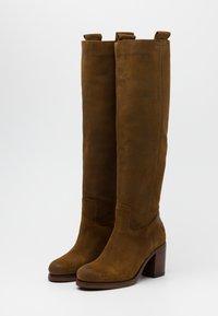 Shabbies Amsterdam - Platform boots - brown - 2