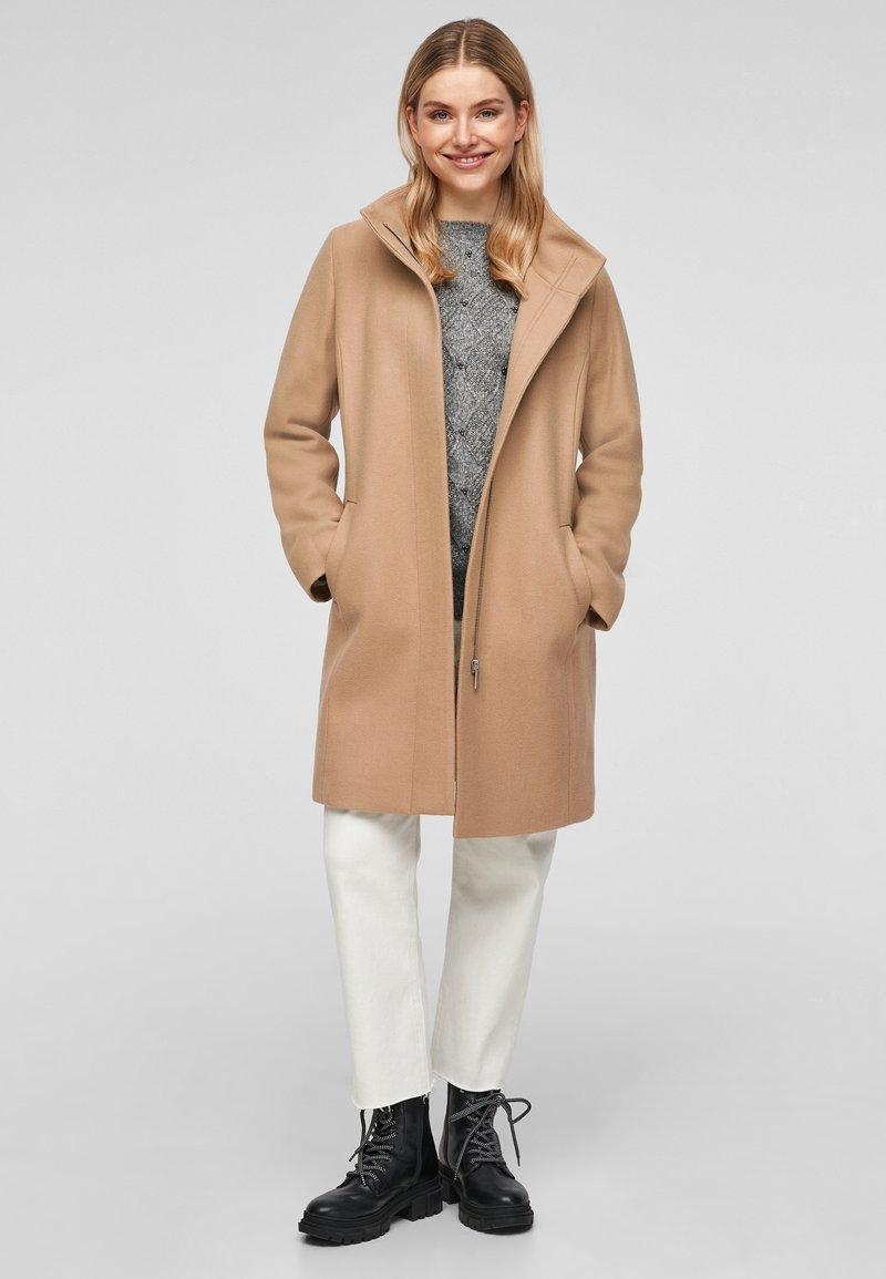 s.Oliver - Classic coat - brown