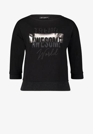 MIT AUFDRUCK - Sweatshirt - schwarz
