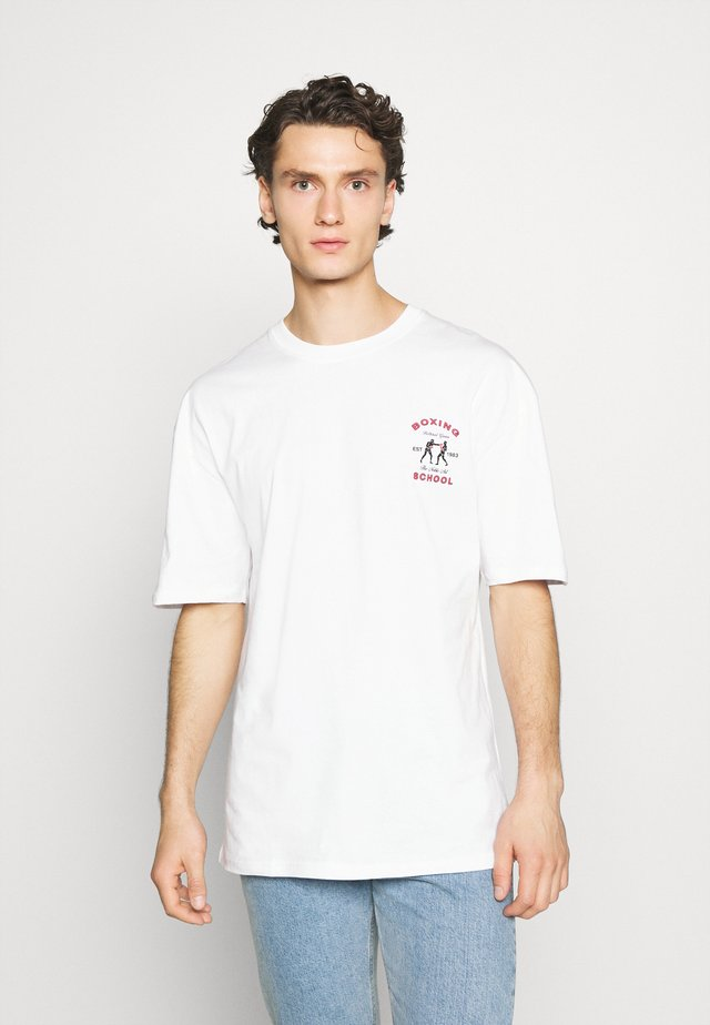 BOXING SHORT SLEEVE - T-shirt con stampa - white