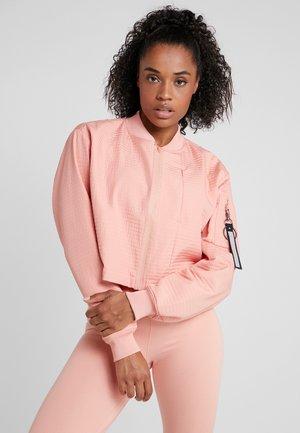 TECH PACK BOMBER - Training jacket - pink quartz/black