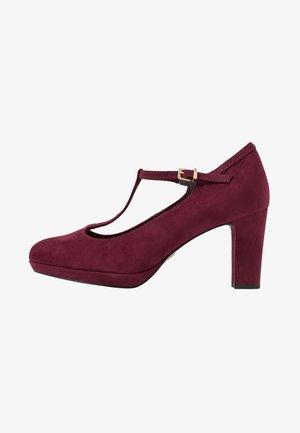 WOMS SLIP-ON - Platform heels - merlot