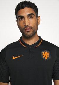 Nike Performance - NIEDERLANDE KNVB AWAY - Landslagströjor - black/safety orange - 3