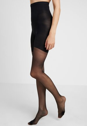 HIGH WAIST SHAPING SHEERS - Tights - very black
