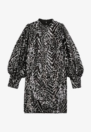Cocktail dress / Party dress - black  silver