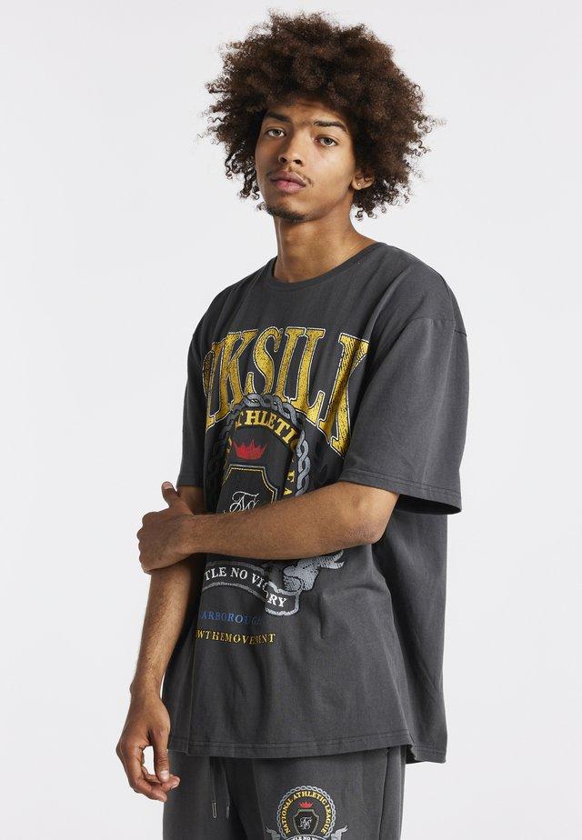 OVERSIZED - T-shirt print - grey