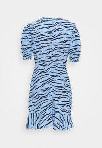Marks & Spencer London - FRILL SKATER MINI - Day dress - blue - 1