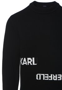KARL LAGERFELD - LOGO CREW NECK - Jumper - black - 3