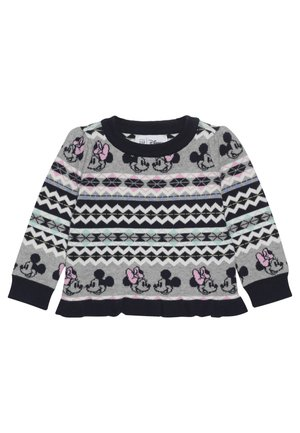 TODDLER GIRL PEPLUM - Svetr - fairisle grey