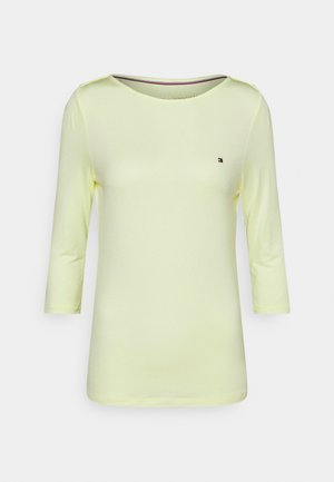 BOAT NECK TEE - Long sleeved top - frosted lemon