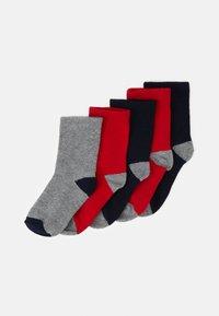 Petit Bateau - PAIRES CHAUSSETTES 5 PACK UNISEX - Socks - dark blue/dark red/grey - 0