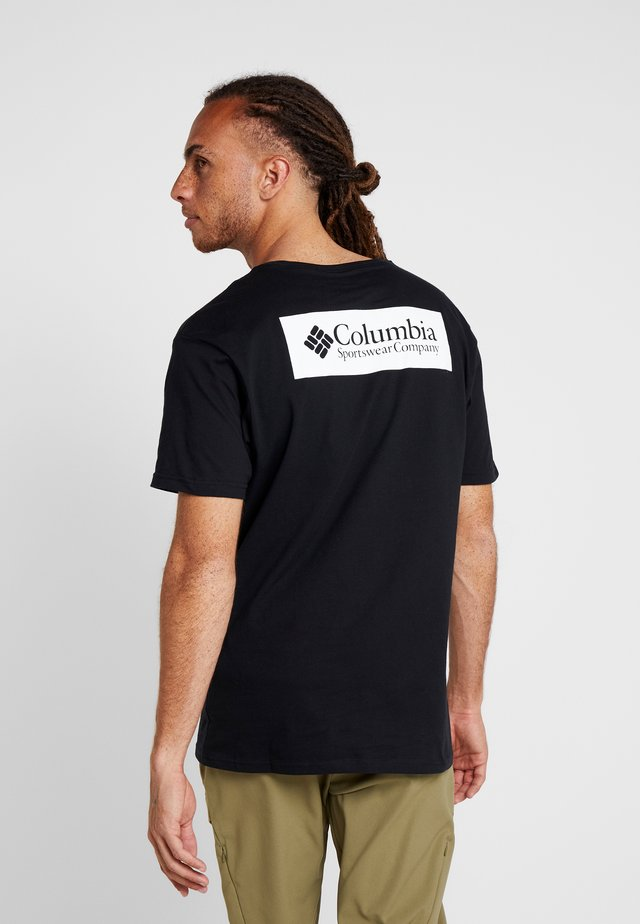 NORTH CASCADES SHORT SLEEVE - Printtipaita - black