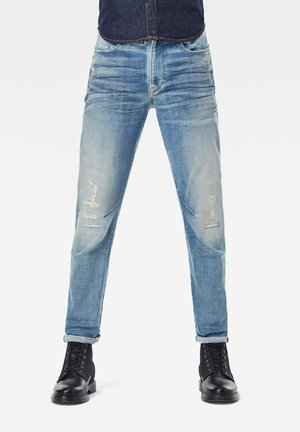D-STAQ 3D SLIM - Jeans slim fit - vintage cool aqua destroyed