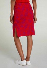 Oui - Pencil skirt - red violett - 2