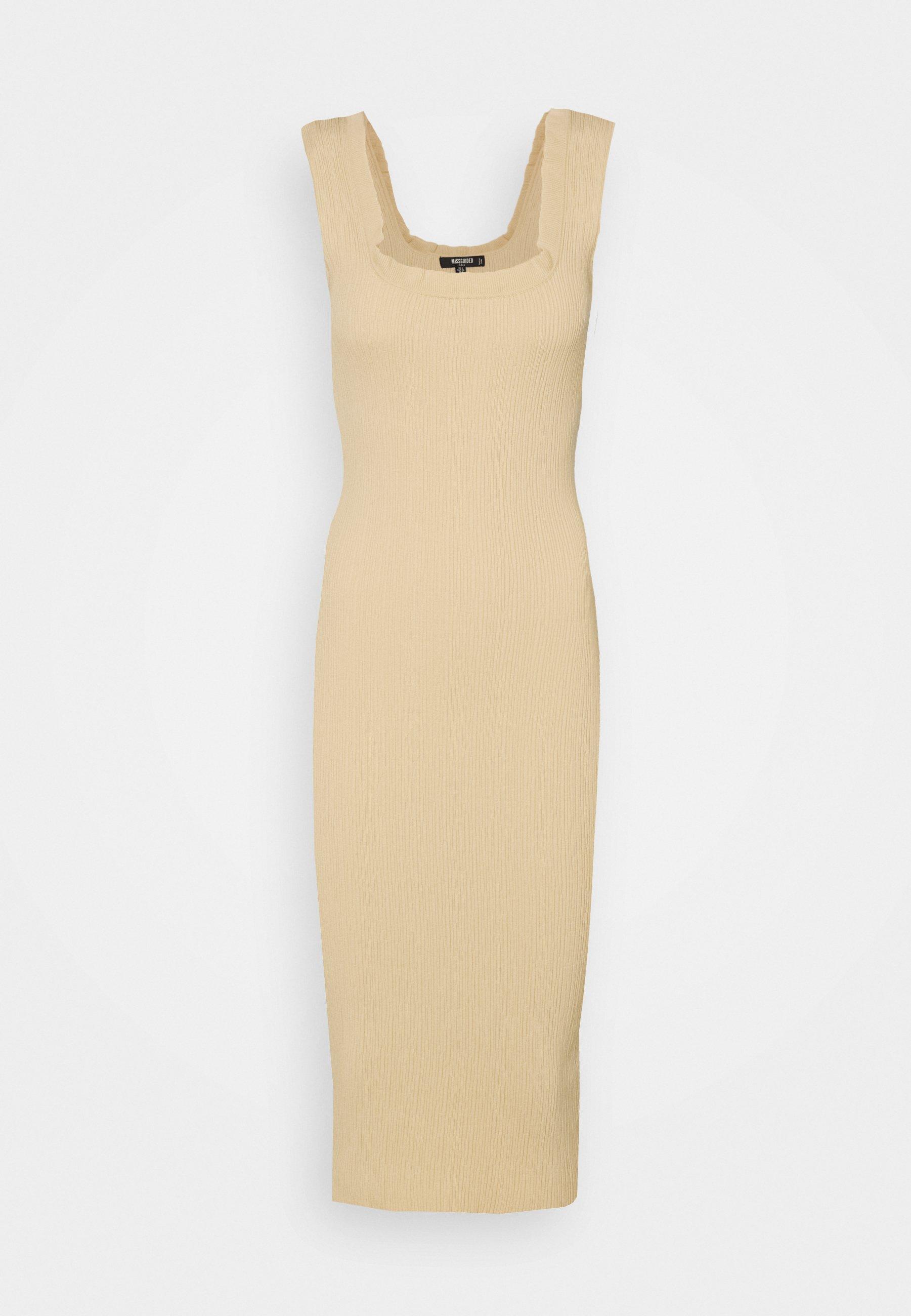 Women FRILL EDGE TEXTURED MIDI DRESS - Day dress