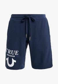 True Religion - SHORT LOGO PUFFY - Tracksuit bottoms - dark blue - 4