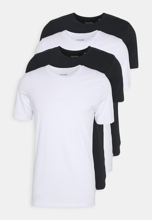 JACBASIC TEE CREW NECK 4 PACK - Nachtwäsche Shirt - white/black