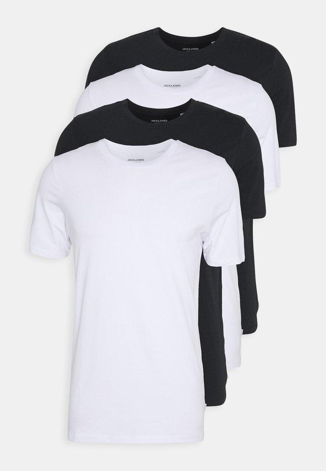 JACBASIC TEE CREW NECK 4 PACK - Pyjamasoverdel - white/black