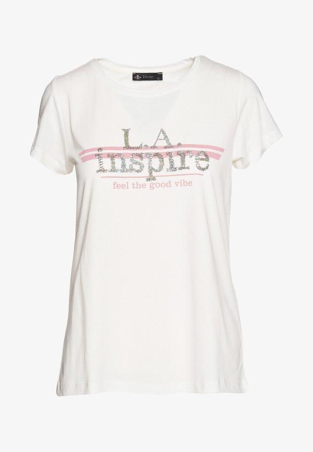 L A INSPIRE - Print T-shirt - creme