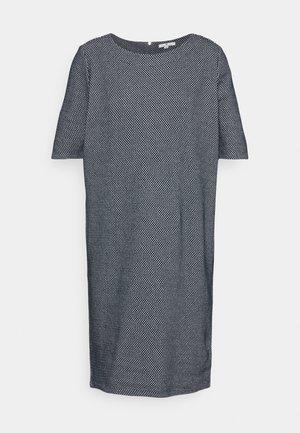 DRESS - Gebreide jurk - navy/white