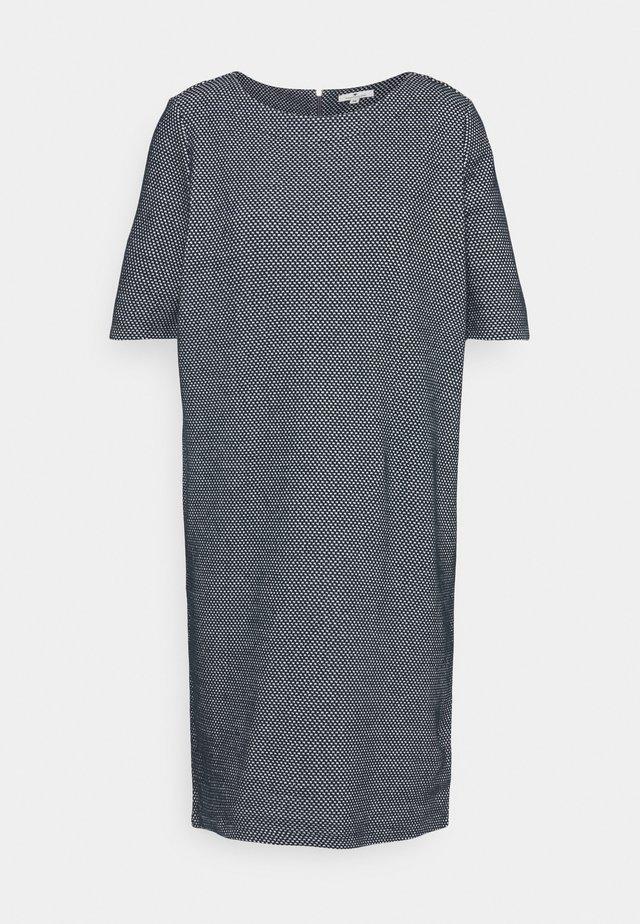 DRESS - Sukienka dzianinowa - navy/white