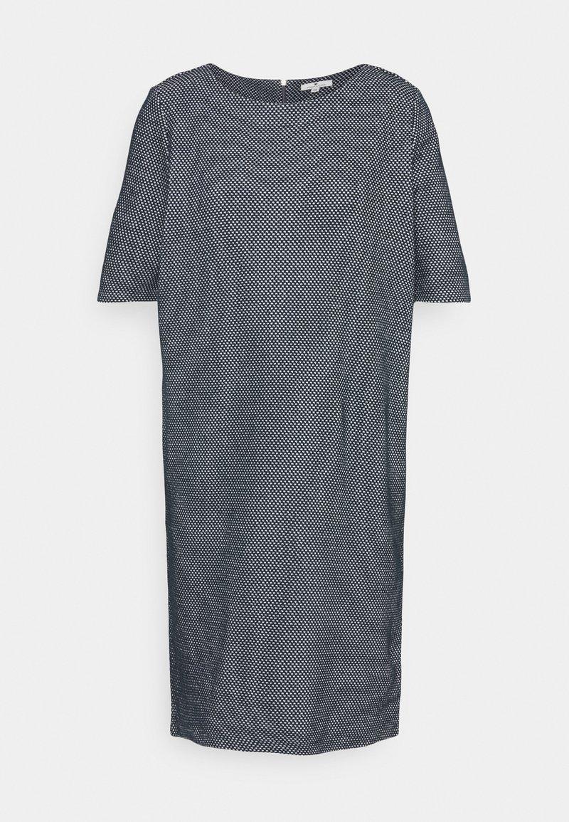 TOM TAILOR - DRESS - Jumper dress - navy/white