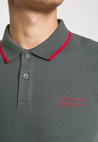 s.Oliver - TIPPING - Poloshirt - grey - 4