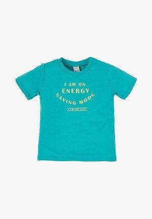Print T-shirt - turquoise