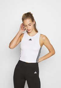 adidas Performance - TANK - Toppe - white - 0