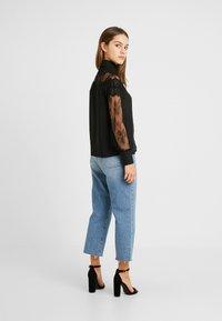 Fashion Union Petite - OLEUM FASHION UNION INSERT BLOUSE - Button-down blouse - black - 2