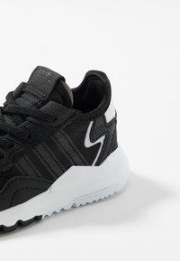 adidas Originals - NITE JOGGER - Slip-ons - core black/carbon - 2
