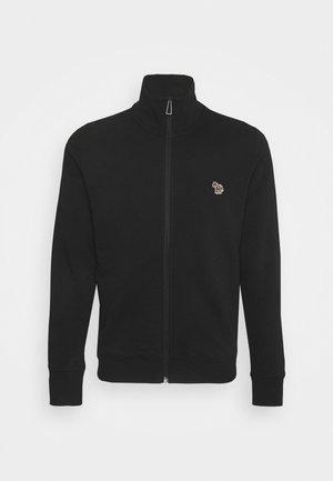MENS REG FIT ZIP TOP - Mikina na zip - black