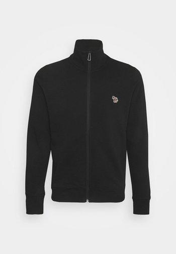 MENS REG FIT ZIP TOP - Zip-up sweatshirt - black