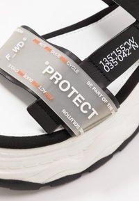 F_WD - Platform sandals - black - 2