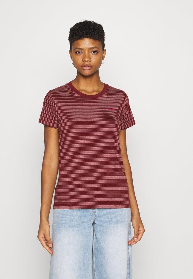 PERFECT TEE - Jednoduché triko - marta madder brown