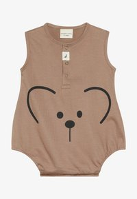 Turtledove - BEAR FACE BUBBLE ROMPER BABY - Overal - brown - 2