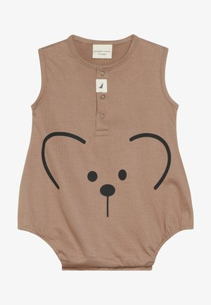 BEAR FACE BUBBLE ROMPER BABY - Jumpsuit - brown
