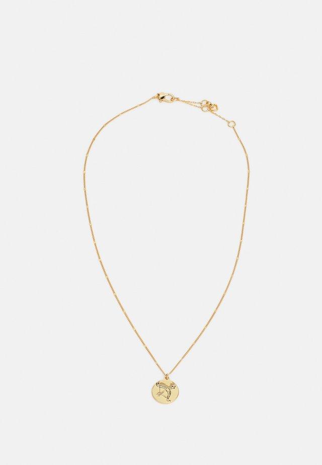 SAGITTARIUS PENDANT - Collana - gold-coloured