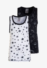 Jacky Baby - VEST SPACE & STARS BOYS 2 PACK  - Undershirt - dark blue - 0