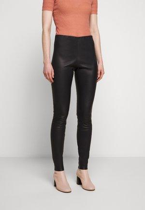 ELENASOO - Leather trousers - night sky