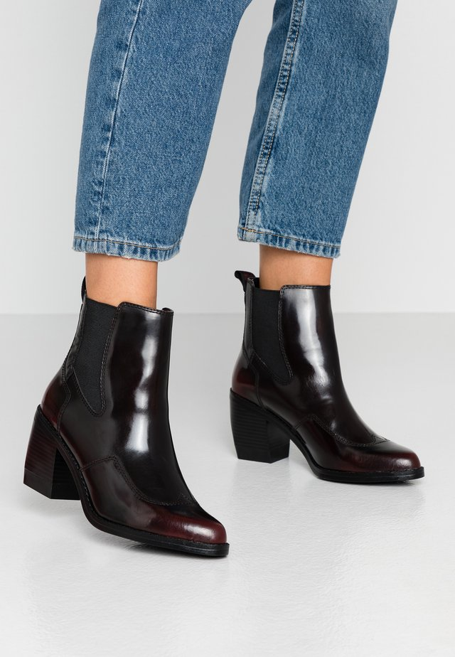 TACOMA - Boots à talons - dark bordeaux